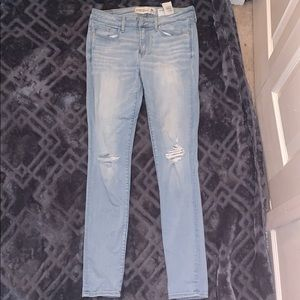 Abercrombie super skinny light wash jeans